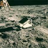 The Apollo 11 lunar laser ranging retroreflector array.: Image Courtesy NASA