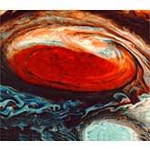False-color image of Jupiter
