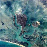 Venice as photographed by crew members aboard Space Station Alpha.: Image Courtesy Earth Observatory