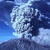 A spectacular plume rises from Mount St. Helens on July 22, 1980.