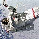 The Weightless Environment Brings Special Challenges To Astronauts. Mark Lee Tetherless and Free