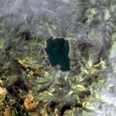 A Landsat image of Lake Nyos