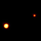 Pluto and Charon are tough to see even with the best telescopes.