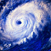 Hurricane Anita approaching landfall on the coast of Mexico.